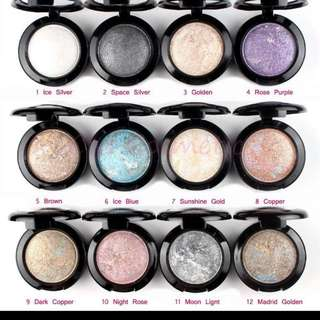12 Different Eyeshadow Shades Selling As Set Ubub