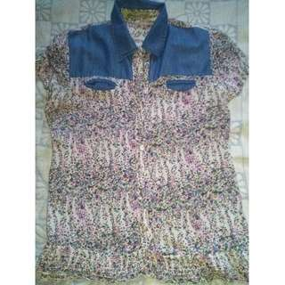 REPRICED! BLUE BLOUSE