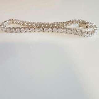 Sterling Silver & Cubic Zirconia Bracelet