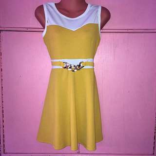 Custard Dress
