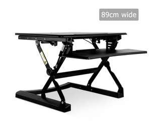 Height Adjustable Standing Desk 90CM - Black