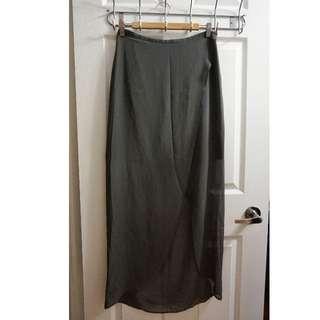 SILENCE + NOISE Split Front Skirt (Size 4)