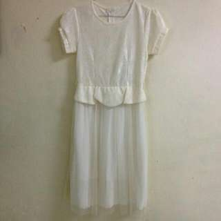 Dress White Chiffon