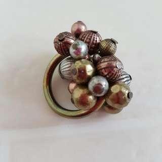 Rustic Bohemian Style Bronze Celebration Ring Size L