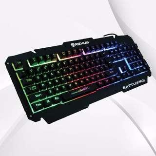 Keyboard Gaming Rexus K9D Battlefire