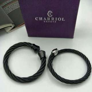 Charriol stainless couple bangles