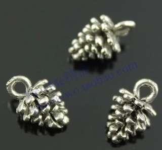 Pine Cone Charm, diy jewelry supplies