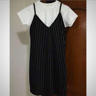 New! Camisole Dress (Pinstripe)