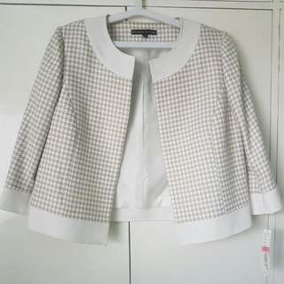 Houndstooth Printed Blazer (Free Shipping)