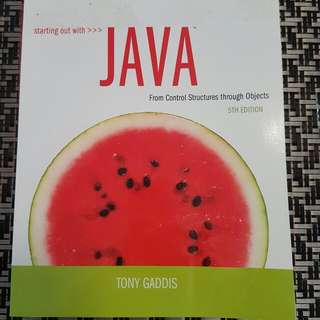 Starting Out With Java 5th ED