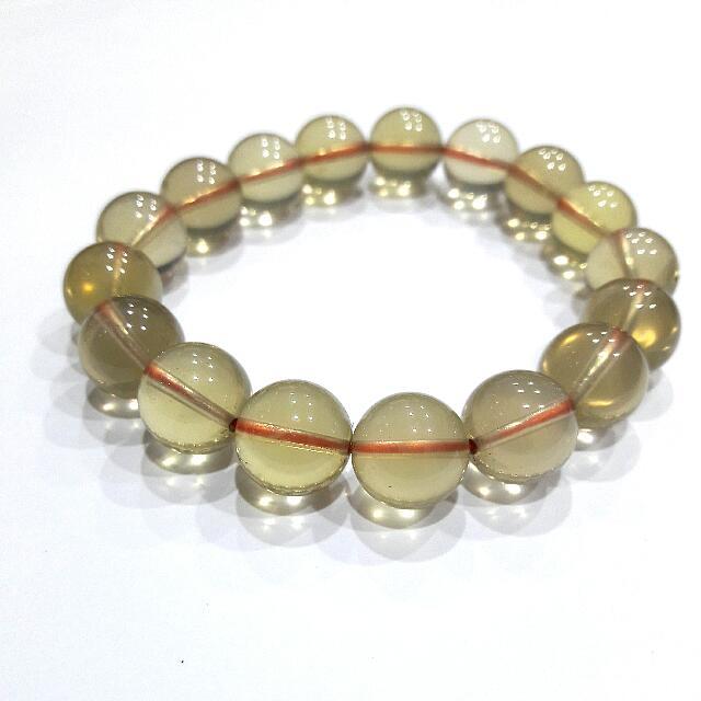天然黃水晶12.5mm手珠
