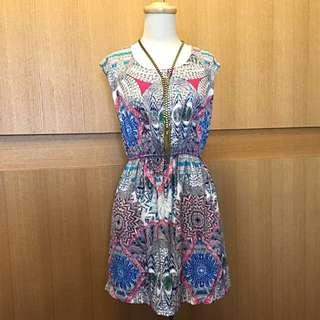 (免運)印花洋裝 小禮服 印花超美 很舒服 #轉轉來交換