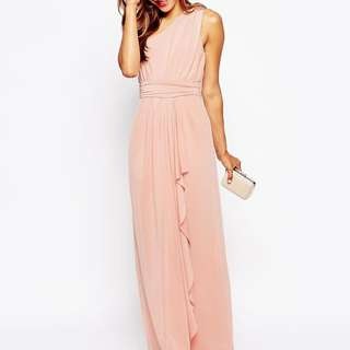 ASOS Slinky Cut Out Back Maxi Dress