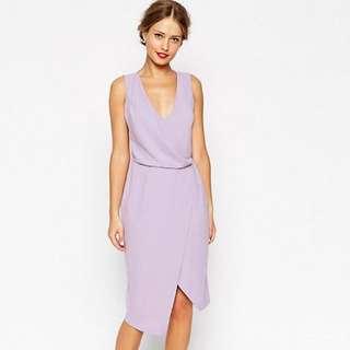 ASOS Lilac Midi Dress