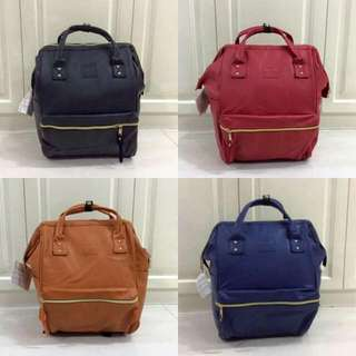 Anello Leather Bagpack