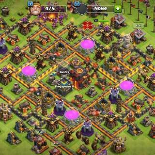 Clash Of Clan Max Th 10 Max Wall