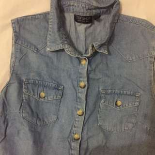 Topshop Denim Top