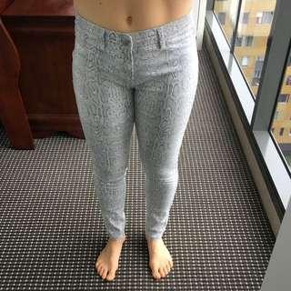 Snake print Jeans Grey Size 10