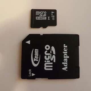8GB SD CARD + FREE ADAPTER