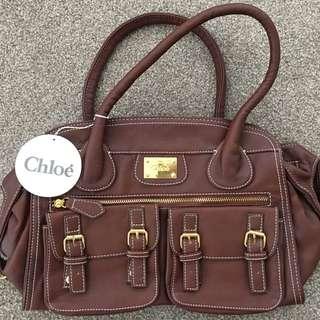'chloe' Brown Handbag