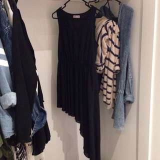 Black Dress Or Top With Hilow Skirt