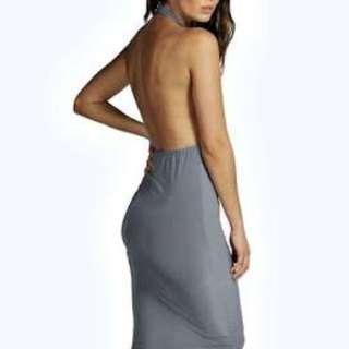 New Halterneck Midi Dress Size 8