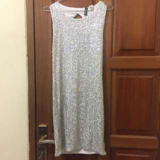 Dress Sequin H&M