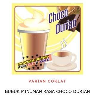 bubuk minuman rasa choco durian