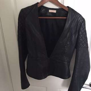 Sass And Bide Leather Jacket Rrp $990