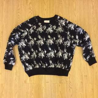 Black White Sweater Fluff