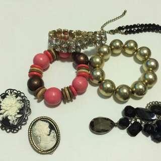 Mixed costume jewellery