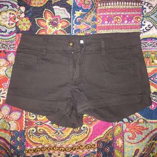 Greenish Brown Valleygirl Shorts
