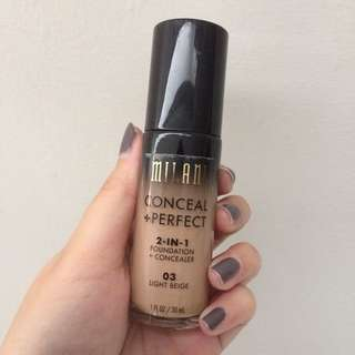 Milani Conceal + Perfect 2 in 1 Foundation FREE ONGKIR