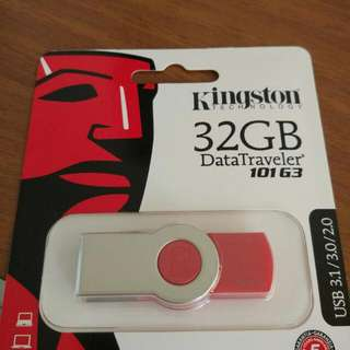 全新金士頓Kingston DataTraveler 32GB USB 3.1隨身碟