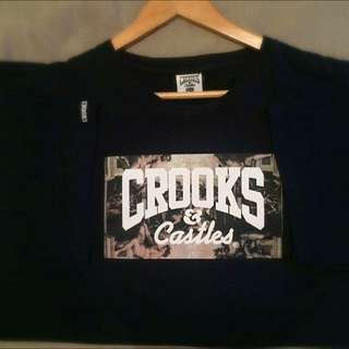 CROOKS & CASTLES NAVY BLUE LIMITED TEE