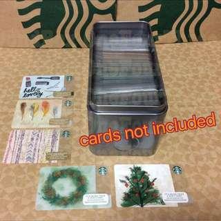 Starbucks 5assorted Cards + 1 card storage
