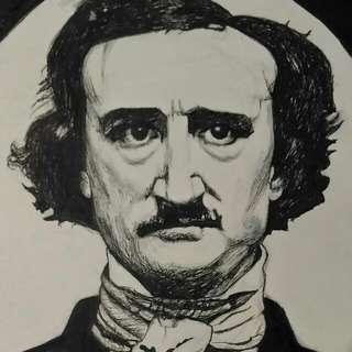 Ink Portrait Of Edgar Allan Poe.