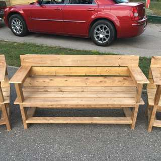 Pressure Treated Wooden Bench