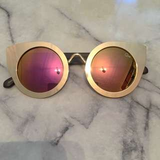 Quay Gold Sunglasses