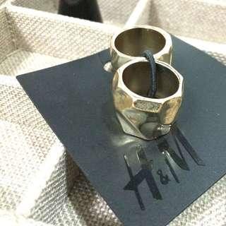 H&M 戒指組 兩件入 Size S