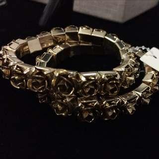 Forever21 玫瑰金 手環 兩件入 降價