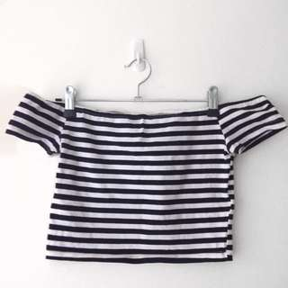 LEE - Black And White Striped Top