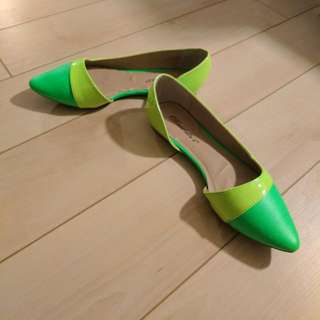 Neon Green And Yellow Flats