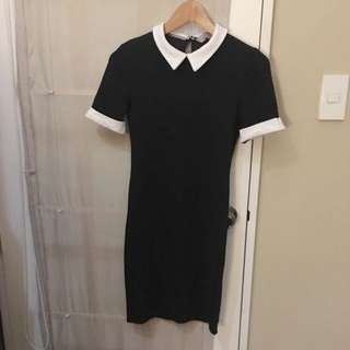 Dorothy Perkins Black Collar Dress SIZE 2