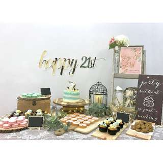 Rustic theme dessert table package