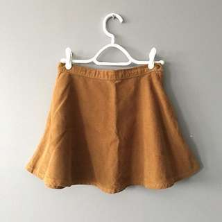 American Apparel Corduroy Skirt