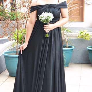 Infinity Black Gown