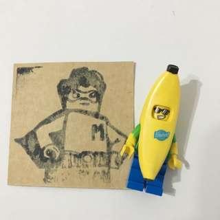 Miniman手作飾品 香蕉人積木人偶 樂高相容