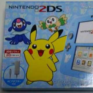 Brand New Nintendo 2DS Pokemon special edition Baby Blue color (Sun and Moon) (Japanese)