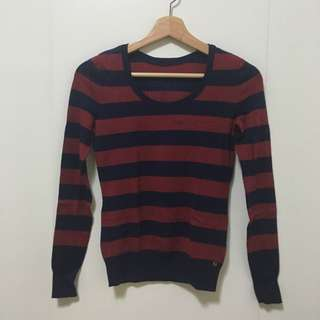 二手衣物-紅藍條紋針織衫